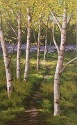 """Sunlit River Birches"""